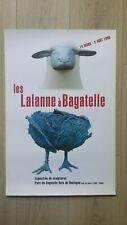 RARE AFFICHE LES LALANNE A BAGATELLE 1998 EXPOSITION SCULPTURES. VINTAGE POSTER