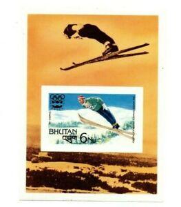 Bhutan 1976 220 - Innsbruck Olympics - Souvenir Sheet - IMPERF