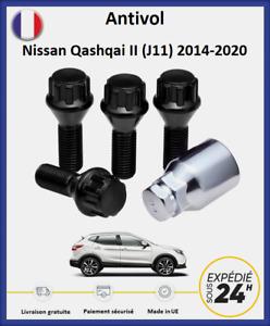 Écrous antivol de roues noir Nissan Qashqai 2 (J11) 2014-2020