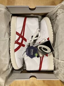 Ascis White Red Tokyo Basketball Trainers Shoes UK 8 EU 42.5 US 9 New