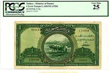 Turkey ... P-119a ... 50 Lira ... 1926 ... Choice*VF* ... PCGS 25 (VF).