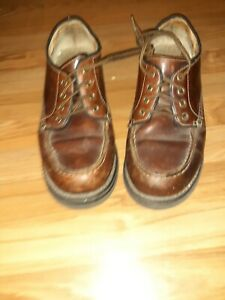 AMERICAN EAGLE OUTFITTERS SIZE 13 BROWN LEATHER CASUAL SHOES FOR MEN...