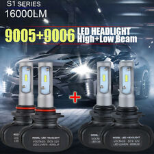 Combo 4PCS 9005 9006 LED Headlight High Low Beam Fog Light Bulb Kit 16000LM 100W