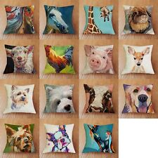 Linen/Cotton Animal Print Cushion Cover cushion Waist Cover Car Bed Home Decor