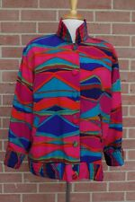 Vintage Tan Jay  women's Light Weight Jacket Multicolor Button up Size 6