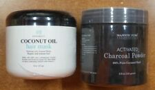 Coconut Oil Hair Mask & Majestic Pure Activated Powder Coconut Charcoal Powder