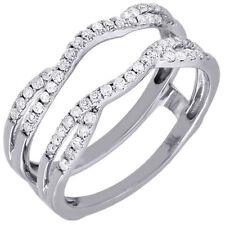 Swivel 14K White Gold 0.33 Ct Diamond Enhancer Wrap Solitaire Engagement Ring