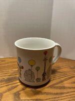 Sandra Boynton Collectible Vintage Coffee Mug Animals with Birthday Balloons