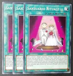 Set 3 Carte : SANTUARIO RITUALE Comune Italiano LED4-IT022 YUGIOH