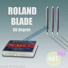 60 DEGREE  3PCS ROLAND BLADES FOR VINYL CUTTER CUTTING PLOTTER FREE SHIPPING