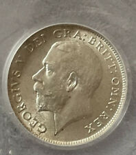 More details for great britain 1911 silver sixpence coin - george v. graded by cgs 78. a/unc