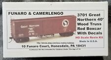 LMH Funaro F&C 3701  GREAT NORTHERN  GN  40' Boxcar Wood Truss Rod  Resin Kit