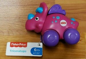 Fisher-Price Triceratops (Pink) Baby Toy *NWT* Ages 6months+ FTH28
