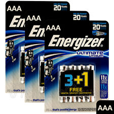12 x Energizer Ultimate Lithium AAA batteries 1.5V L92 LR03 MN2400 EXP:2035
