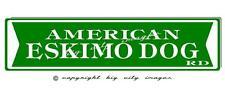 American Eskimo Dog Aluminum Street Sign Free shipping