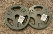 CAP Standard Grip Barbell Dumbbell Weight Plates 5 lb. X 2 (PAIR) FREE FAST SHIP