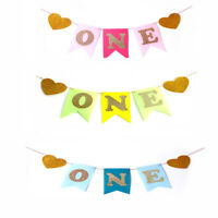 Baby First Birthday Chair Banner ONE Year 1st Birthday Decor Boy Girl Bunting 3C