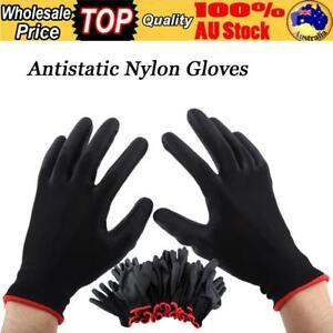 24Pcs Antistatic Gloves Safety Work Mechanic Workers Garden Builder Gloves 8M AU