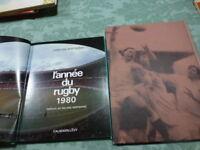 lot2 livre s= rugby ans 80 tres bon étaT  collector ,cadeau ...318PAGES EN TOUT