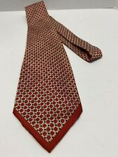"""Haband Vintage Neck Tie Red White Black 50's  52"""" Long By 4"""" Wide. Acetate Flows"""