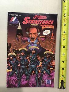 2002 Cleveland Indians Majestic Comic Book Strikeforce vs The Scatman Sabathia