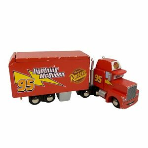 Disney Pixar Cars Wood Collection Mack Hauler Truck Wooden Toys Rare