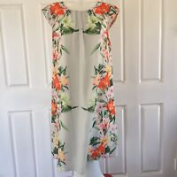 Teaberry White Floral Designer Size 12 Cocktail Evening Party Wedding Guest