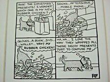 Funny Dog Cartoon Print by Rupert Fawcett - Dog and Christmas Presents - 82
