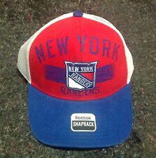 New York Rangers Reebok Baseball Trucker Snapback Cap Hat, New