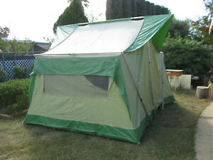Coleman Oasis 12x9 CanvasTent, Model 8471, W/ Stakes, Bags, Excellent Condition