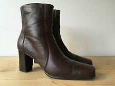CARVELA LADIES BROWN LEATHER ANKLE BOOTS UK4