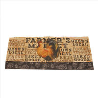 Farmers Market Rooster Table Runner 14x36 inches Hemmed