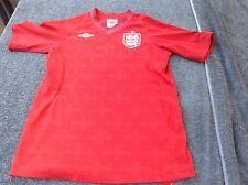 ENGLAND Large Boy Age 11/12 UMBRO soccer football shirt jersey trikot FIFA UEFA