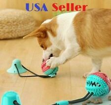 Dog Chew Toy Bite Molar Teeth Cleaning Ball Puppy Suction Cup Food Dispenser