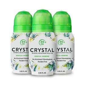 Crystal Mineral Deodorant Vanilla Jasmine 2.25 oz. (3 Pack)