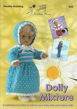 VAT Free 13 Doll Outfits KNITTING PATTERNS ONLY Teddy Book Dolly Mixtures 622