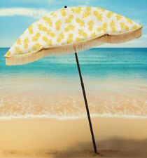 The Caribbean has Dancing Pineapples Beach Umbrella
