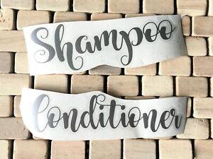 VINYL STICKER DECAL BATHROOM HINCHING BOTTLES DISPENSERS SHAMPOO CONDITIONER DIY