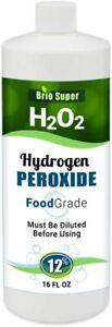 BRIO SUPER H2O2 Hydrogen Peroxide Food Grade 12% - 1 Bottle - PRIORITY SHIPPING