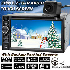 6.2'' Car Stereo Radio Double 2 DIN In Dash CD DVD Head Unit + Backup Camera