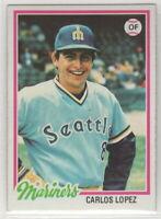 1978 Topps Baseball Seattle Mariners Team Set