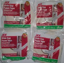 Ace 53113 Wide Gap PVC Foam Tape Closed Cell 3/16in x 3/8in x 17ft Qty 4