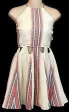 Tularosa Dress Beige Stripe Spaghetti Strap NWT Size Small