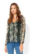 Monsoon Hip Length Silk Floral Tops & Shirts for Women