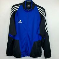 Adidas Mens Size M Jacket Clima Cool Blue Black White Full Zip
