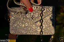 NWT Tory Burch Lizard Envelope Crossbody Purse Handbag 41139083