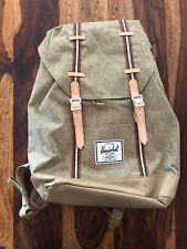 Herschel Little America Backpack Rucksack Tasche Dark Olive / Saddle Brown Grau