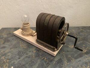 VTG 5 BAR MAGNET PHONE GENERATOR MAGNETO HAND CRANK Western Electric Light Bulb