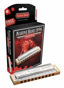 HOHNER MARINE BAND 1896/20 HARMONICA C HARP  FACTORY SEALED NEW WITH CASE