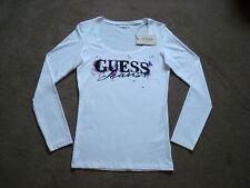 BNWT GUESS Jeans Women's / Girl's Size 12 (EU42) White Long Sleeve Top / T-Shirt